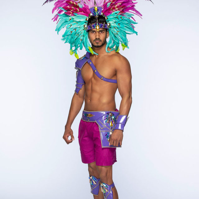 Male - Full Costume with Additional Large Headpiece